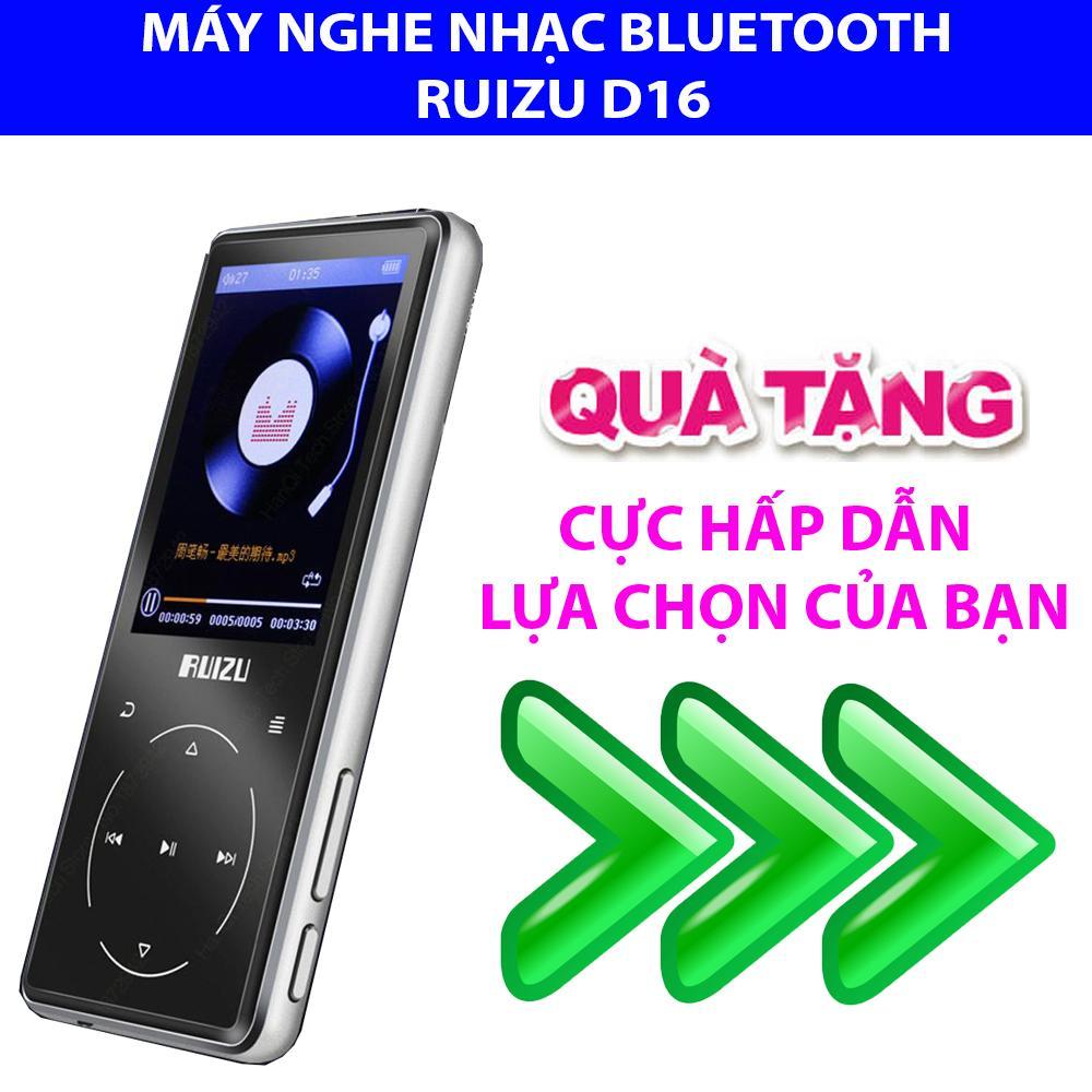 MP4 Ruizu D16 - 2019, Máy nghe nhạc Lossless, Bluetooth Màn hình lớn 2.4 icnh