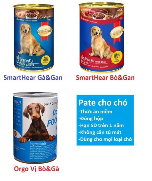 Pate chó dạng Lon 400gr (3 loại) Thức ăn mềm cho mọi loại chó - Thịt hộp chó