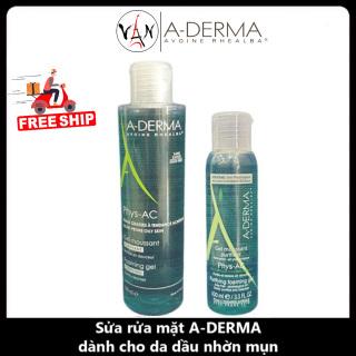 Aderma gel rửa mặt cho da mụn, nhạy cảm A-Derma Gel Moussant Purifiant Phys-Ac 200ml - 400ml thumbnail