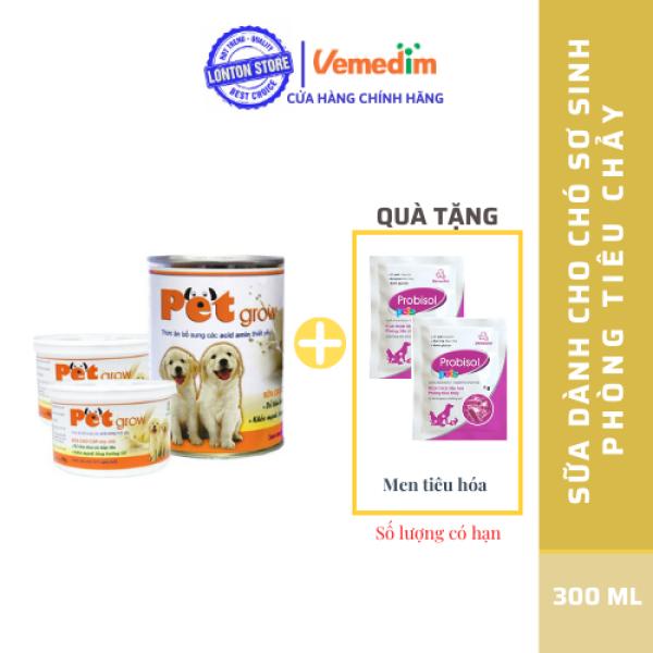 Sữa Cao Cấp Cho Chó Con Pet grow 50g (Không Tiêu Chảy) - Lonton Store
