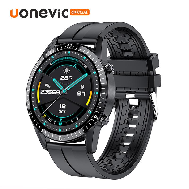 Đồng hồ thông minh Uonevic GT WATCH I9 - 46MM có thể cảm ứng toàn màn hình kết nối Bluetooth chỉ số chống nước IP68 - Đo Nồng Độ Oxy - Từ chối cuộc gọi điện thoại dành cho điện thoại hệ điều hành IOS và Android - INTL