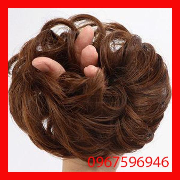 Búi tóc rối nữ trung niên chất liệu tóc giả cao cấp loại dầy đẹp - Bui rối
