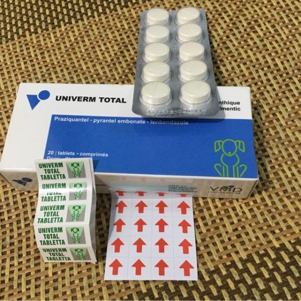 Thuốc Tẩy Giun Univerm Total Tablet- 20 Viên