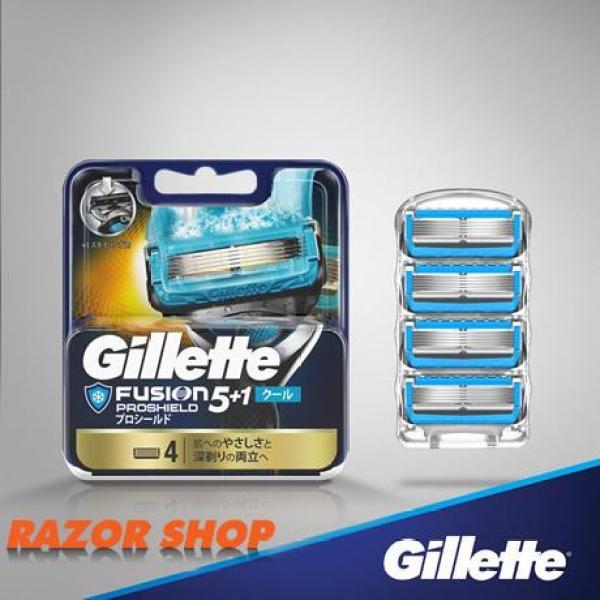 Vỉ 4 lưỡi thay thế Gillette Fusion 5 + 1 Proshield Chill Nhật Bản giá rẻ