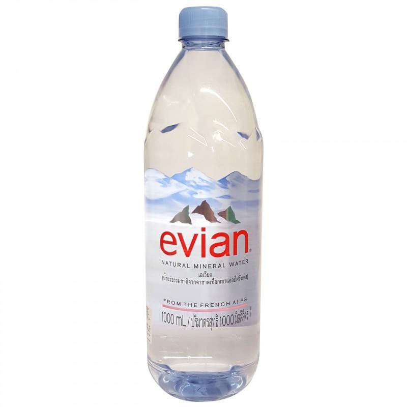 Nước khoáng thiên nhiên Evian chai 1 lít
