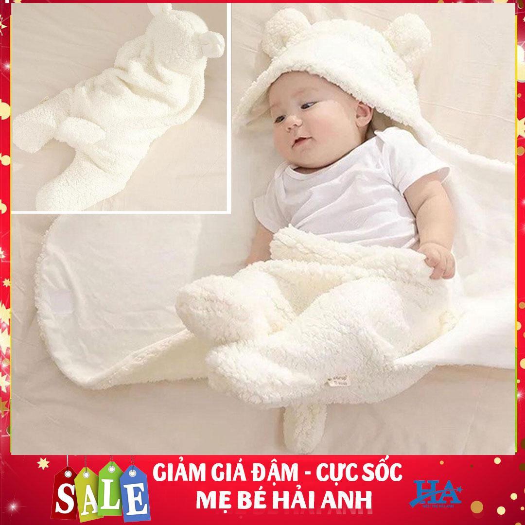 Chăn quần lông cừu ủ kén Baby Blanket hình thú cao cấp cho bé yêu có thể dùng kèm với nôi em bé, khăn ủ kén nâng niu bảo vệ sức khỏe con yêu- MBHANG05 Nhật Bản