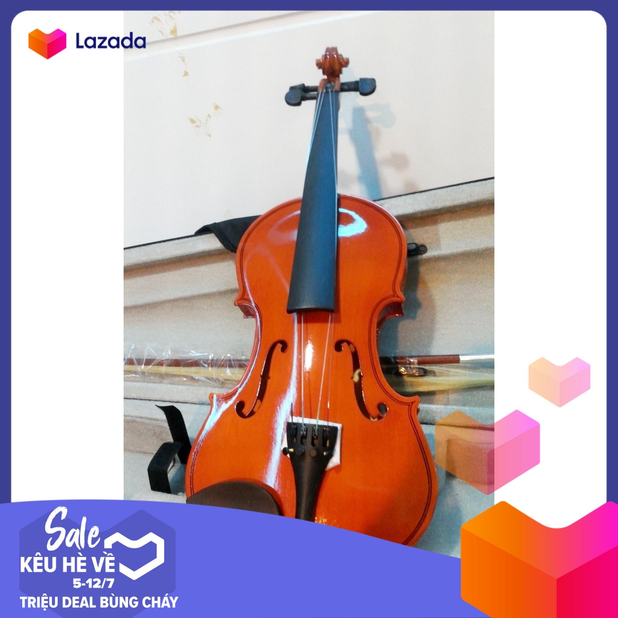 Mã Coupon [ Siêu Khuyến Mãi- Mua 1 Tặng 3]  Combo đàn Violin Gỗ TL-100 Tặng Kèm Vỉ Kéo , Sáp Rosin , Hộp đựng được Phân Phối Bởi Kênh Bán Đàn