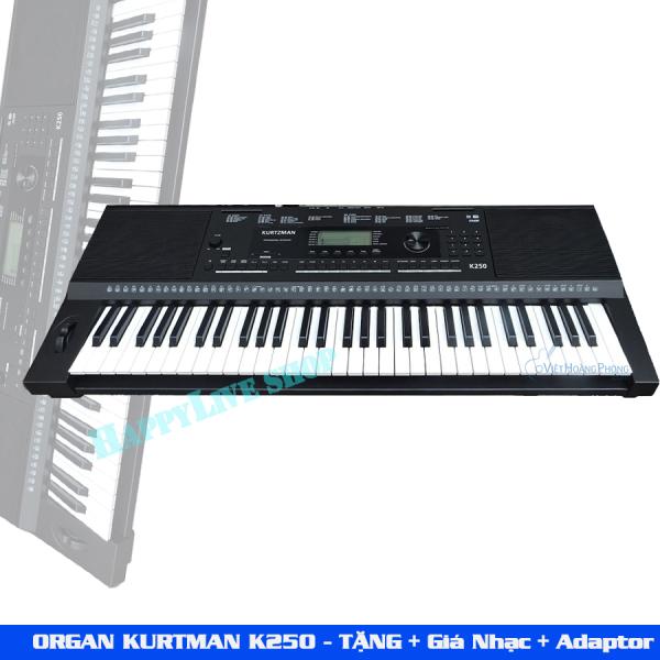 Đàn Organ Kurtzman K250 + Giá nhạc + Adapter - HappyLive Shop