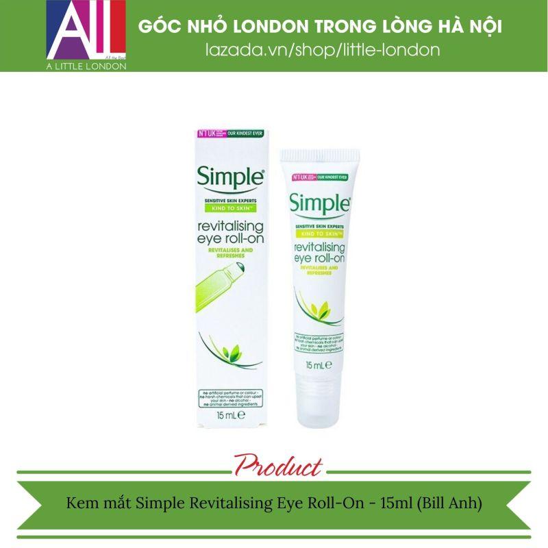 Lăn mắt Simple Revitalising Eye Roll-On 15ml (Bill Anh)