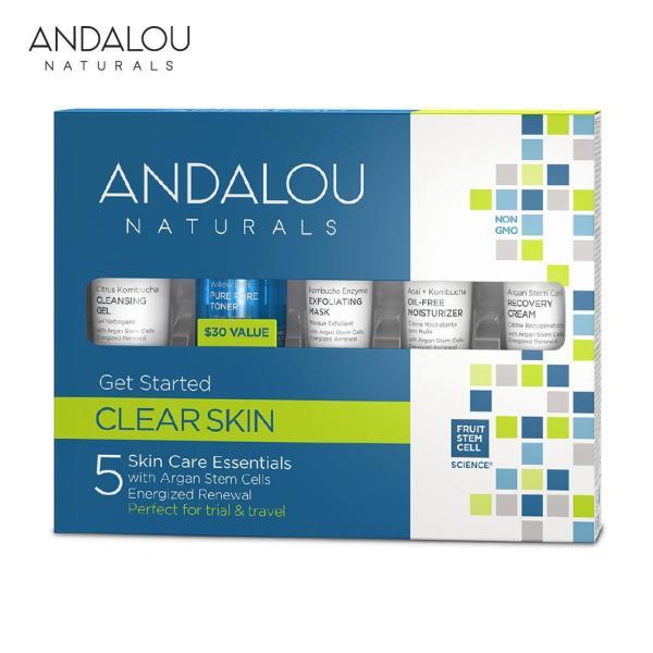 Bộ Sản Phẩm Chăm Sóc Da Dầu Mini Andalou Naturals Clear Skin Get Started Kit tốt nhất