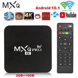 Hộp Tivi MXQPRO 4K 5G 2020 Phiên Bản Cập Nhật Mới Nhất Android 10.1 Ultra HD Android TV Box Không Dây Wifi H3 Quad Core Suppot H.265 UHD 4K 2.4GHz WiFi Media Player Android Box Cài Đặt Trước Netflix Youtube thumbnail