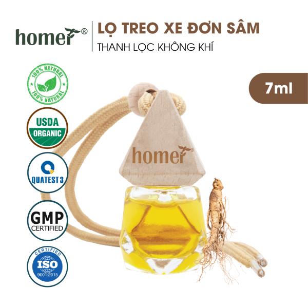 Tinh dầu treo HOMER Đơn sâm 7ml - Khử mùi, kháng khuẩn trong không khí - Treo tủ, treo xe ô tô, treo phòng