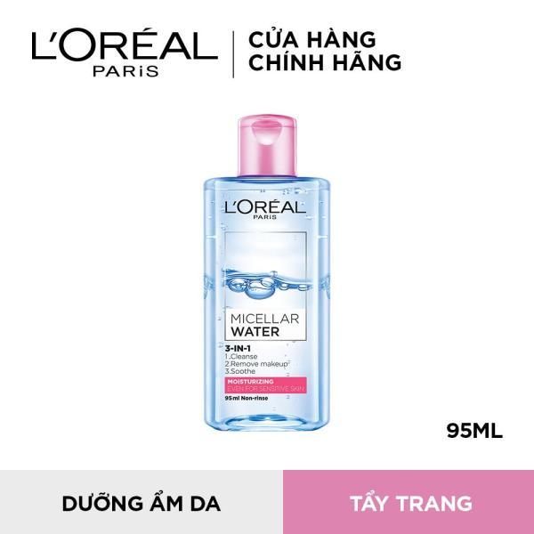 Nước tẩy trang cho da nhạy cảm LOreal Micellar Water 95ml (Màu Hồng)