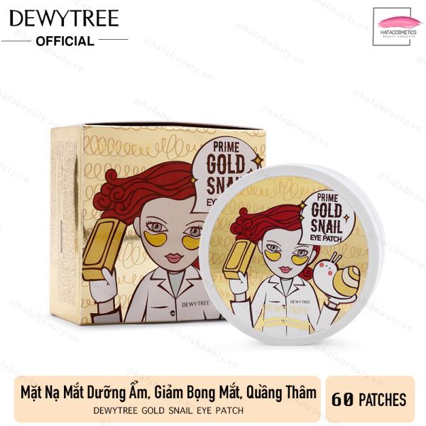 Mặt nạ giảm quầng thâm và nếp nhăn vùng da mắt DewyTree Prime Gold Snail Eye Patch (60 miếng) giá rẻ