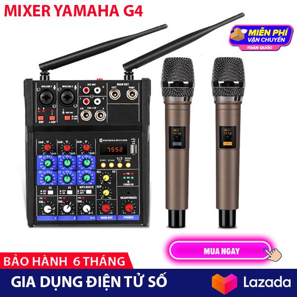 Bộ Mixer Yamaha G4 USB - Tặng Kèm 2 Micro Không Dây - Mixer Chuyên Livestream Karaoke Thu Âm Cao Cấp - bộ Mixer khuếch đại tiền âm thanh bộ mixer trộn âm thanh Mixer cao cấp Mixer Yamaha - Hàng nhập khẩu - Bảo hành 6 Tháng