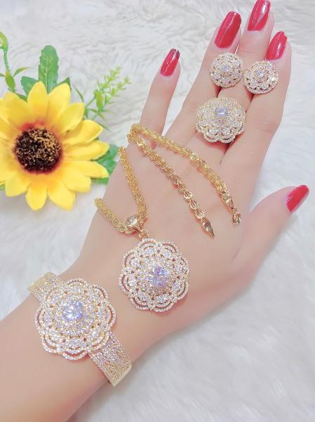 Bộ Trang Sức 4 Món Cao Cấp - Givishop - B4170588 - [ Chất liêu bạc pha, cam kết không đen không dị ứng ] - nu trang bang vang dep, nhan nu vang trang dep, nhung kieu nu trang vang dep, nữ trang vàng 18k đẹp, mẫu nữ trang vàng đẹp