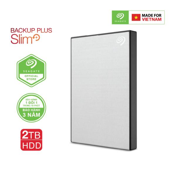 Bảng giá Ổ Cứng Di Động Seagate Backup Plus Slim 2TB USB 3.0 (Đen) Phong Vũ