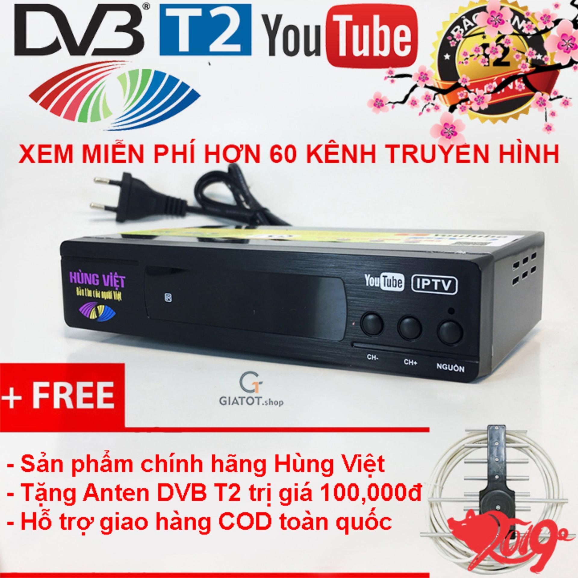 Giá Đầu thu kỹ thuật số DVB T2 HÙNG VIỆT TS-123 Internet & bộ phụ kiện Điện máy Tân Đại Phát