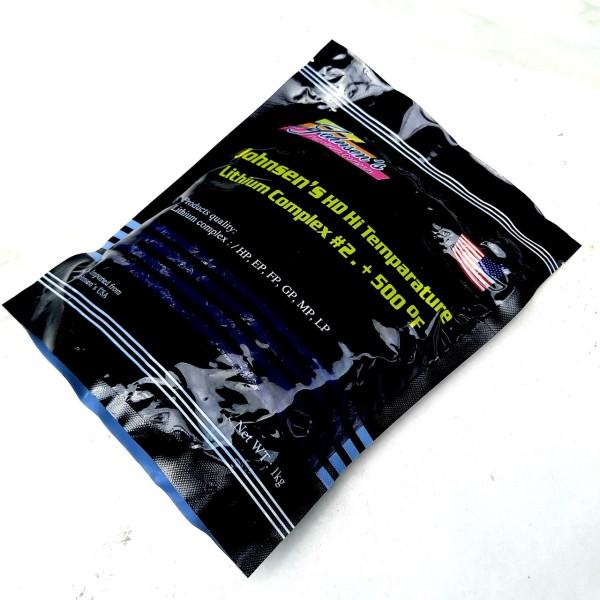 Mỡ bò tím đen Johnsens USA - Johnsens HD Hi Temparature lithium complex #2. +500 °F 1kg/ Chiết hộp 454gr