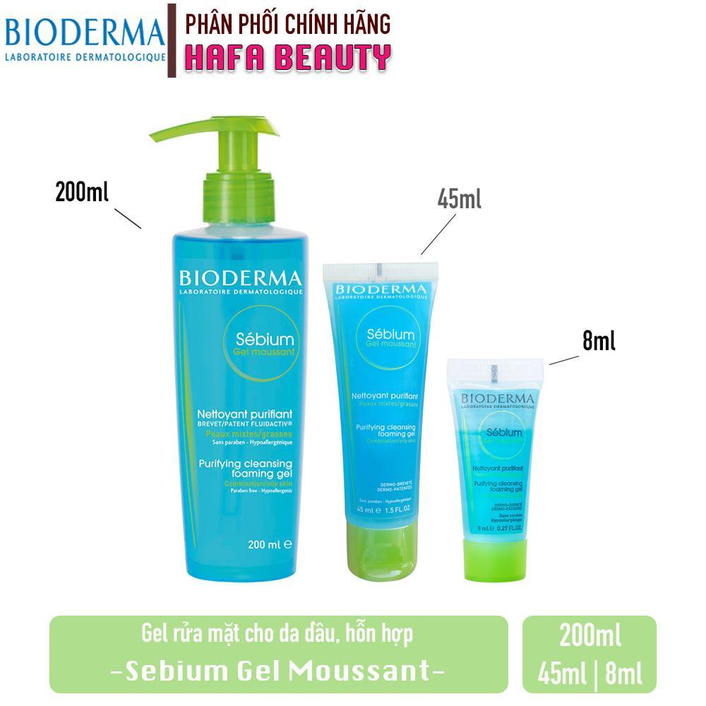 Gel rửa mặt tạo bọt, ngăn ngừa mụn BIODERMA Sébium Gel Moussant (Dành cho da dầu,mụn)