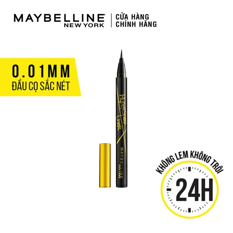 Bút Kẻ Mắt Nước Sắc Mảnh Maybelline New York Hyper Sharp Liner Đen 0.5g nhập khẩu