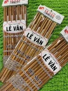 [10 ĐÔI] Combo 10 đôi đũa sạch LEVAN cao cấp, sạch, không phủ hóa chất, an toàn cho mọi gia đình thumbnail
