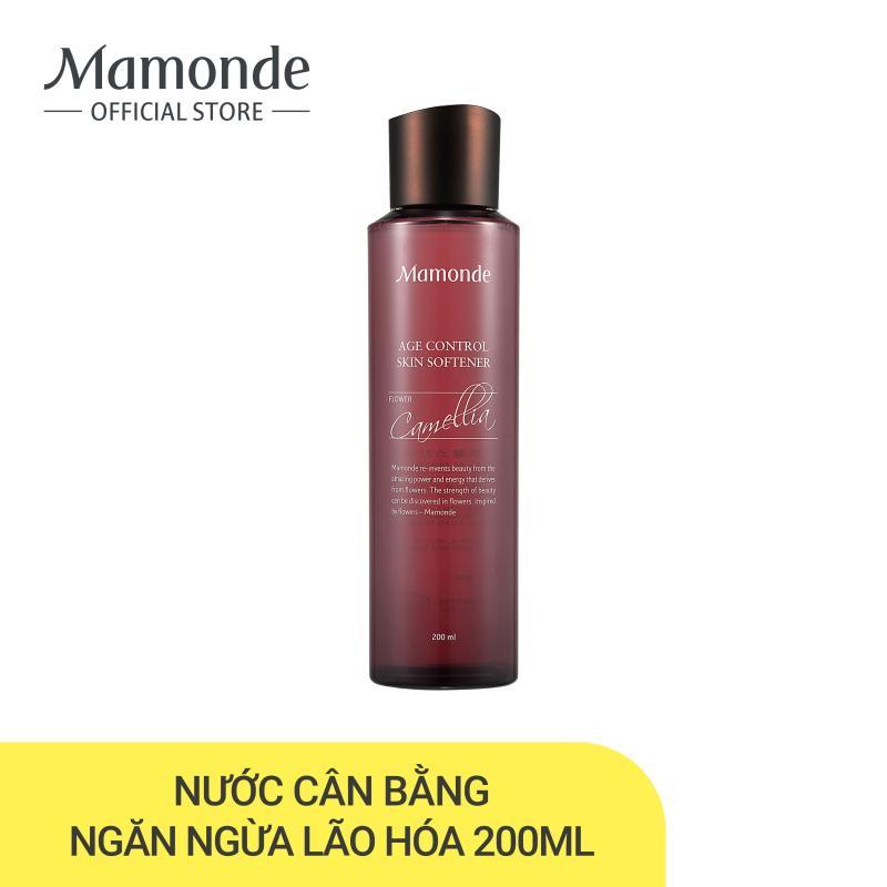 Nước cân bằng dưỡng ẩm ngăn ngừa lão hóa da sớm Mamonde Age Control Skin Softener 200ml cao cấp