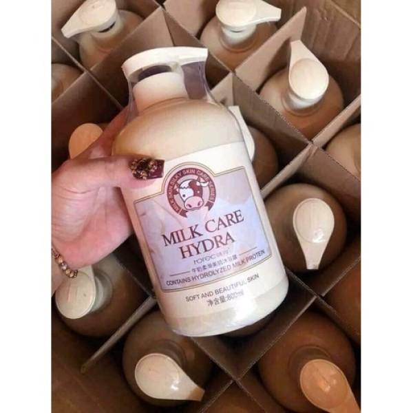 Sữa tắm-sữa tắm bò dưỡng da trắng sáng-tắm chăm sóc cơ thể-sữa tắm nội địa trung milk care chai 800ml siêu tiết kiệm