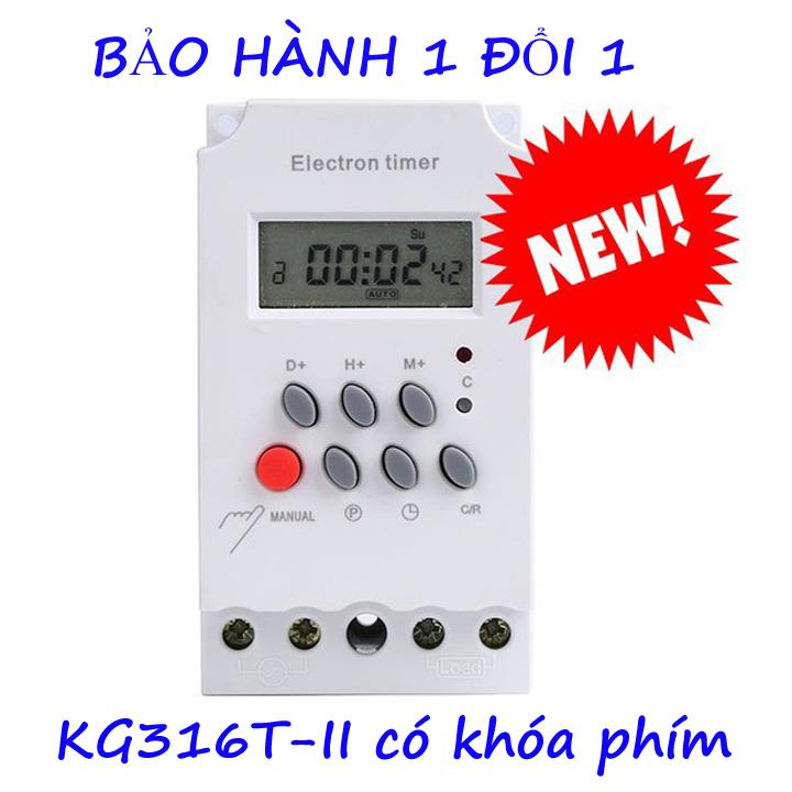 Công tắc hẹn giờ KG316 T-II công suất 25A/220V timer hẹn giờ bật tắt điện tự động công tắc hẹn giờ bật tắt máy bơm công tắc hẹn giờ thông minh