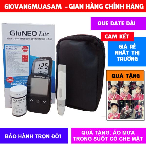 Nơi bán Máy đo đường huyết GluNEO Lite + Tặng 25 que thử và 50 kim chích máu + Tặng thêm áo mưa trong suốt