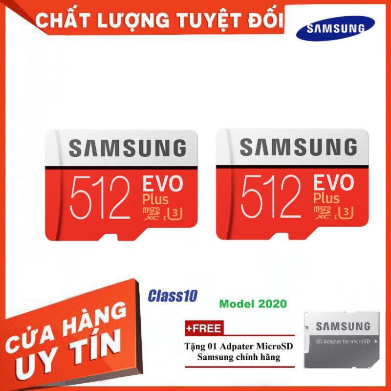 [Bán Lỗ] Combo 2 Thẻ Nhớ MicroSDXC Samsung EVO Plus U3 512GB 100MB/s MB-MC512H - Hàng Chính Hãng