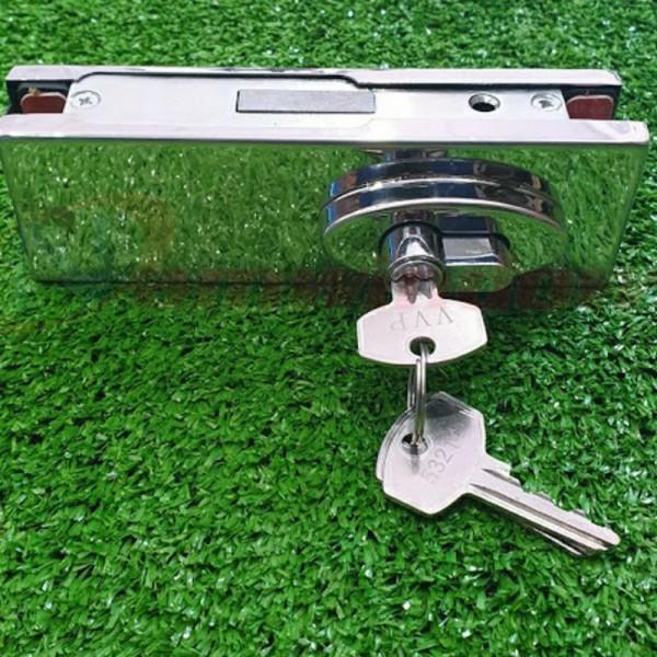 khóa của kính cường lực vvp, khóa sàn kính cường lực