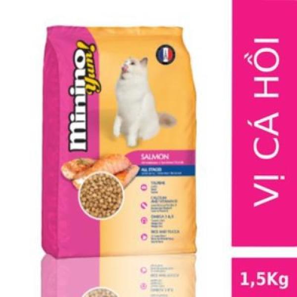 Thức ăn mèo MININO YUM CÁ HỒI 1,5kg