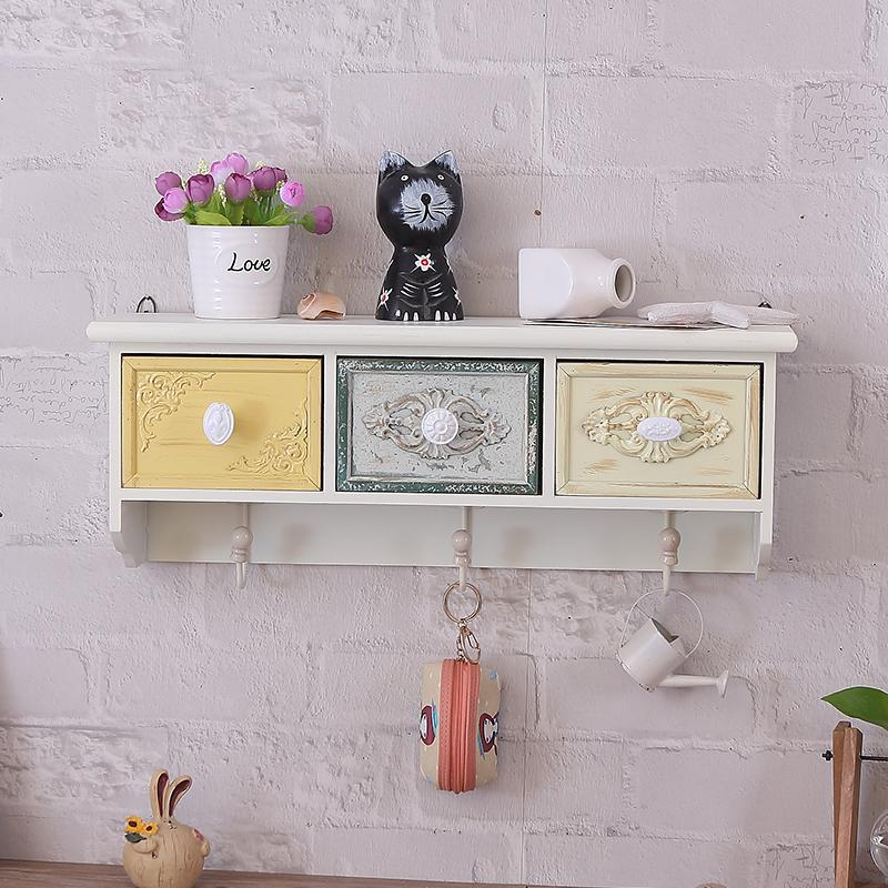 Northern Europe Living Room Doorway Wall Mounted Storage Rack Shop Wall Hangers Wall Cabinet Storage Entrance Closet Creative Decoration Cabinet