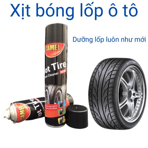 Xịt bóng lốp ô tô phục hồi dưỡng đen nhựa nhám cho lốp ô tô xe máy thương hiệu camel chai 650ml