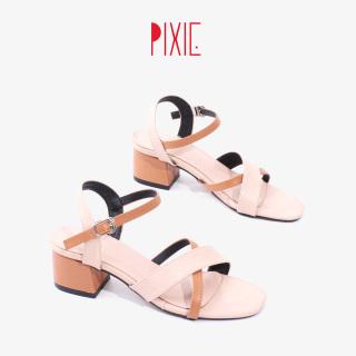 Giày Sandal Cao Gót 5cm Mix Nhiều Màu Pixie X742 thumbnail