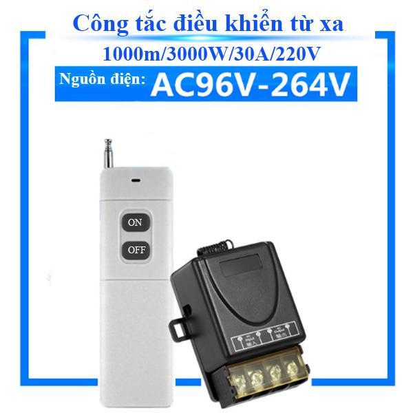 Công tắc đóng ngắt điện điều khiển từ xa 1000m/3000W/30A/220V