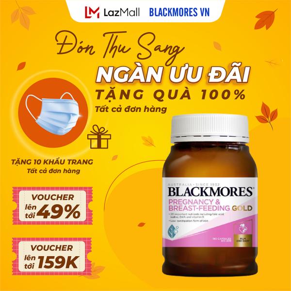 Blackmores Pregnancy And Breast Feeding Gold 180v - Vitamin tổng hợp cho bà bầu Blackmore Úc cao cấp