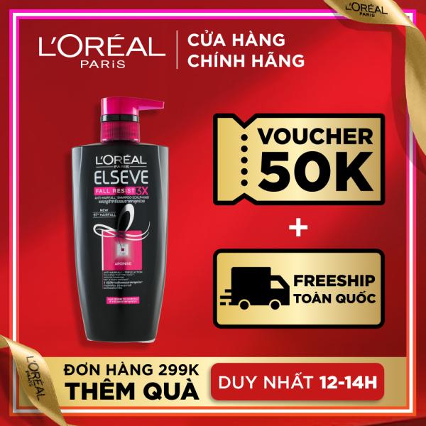 Dầu gội ngăn rụng tóc LOreal Paris Elseve Fall Resist 3X Shampoo 650ml