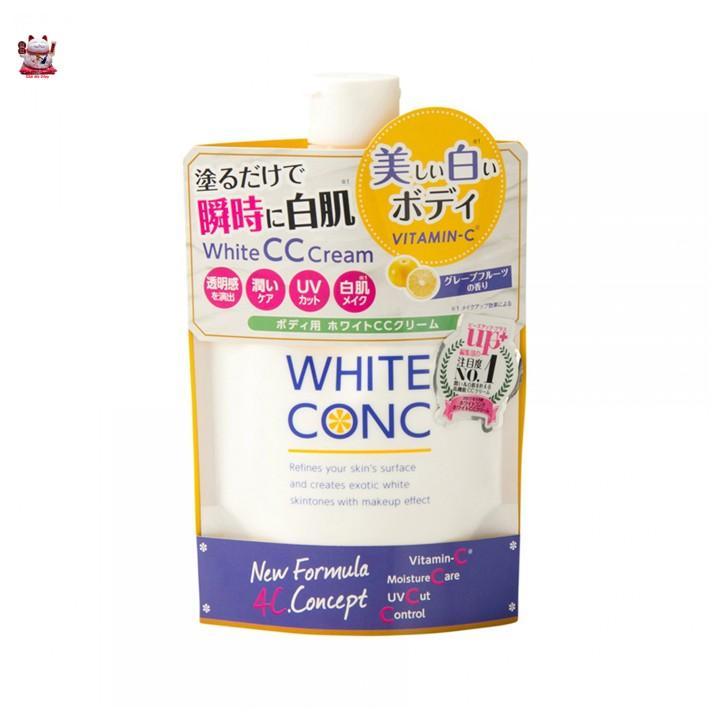 Sữa Dưỡng Kích Trắng White Conc Body CC Cream 200g Nhật Bản