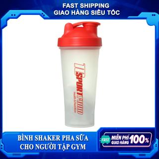 Bình lắc Shaker pha sữa cho người tập GYM - Bình nước thể thao Shaker - 600 ml thumbnail