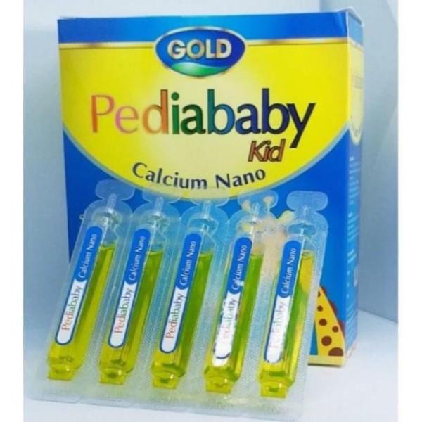 Pediababy kid Bổ sung canxi giúp cải thiện mật độ canxi của xương, giúp xương răng chắc khỏe hộp 20 ống, sản phẩm có nguồn gốc xuất xứ rõ ràng, đảm bảo chất lượng, dễ dàng sử dụng nhập khẩu