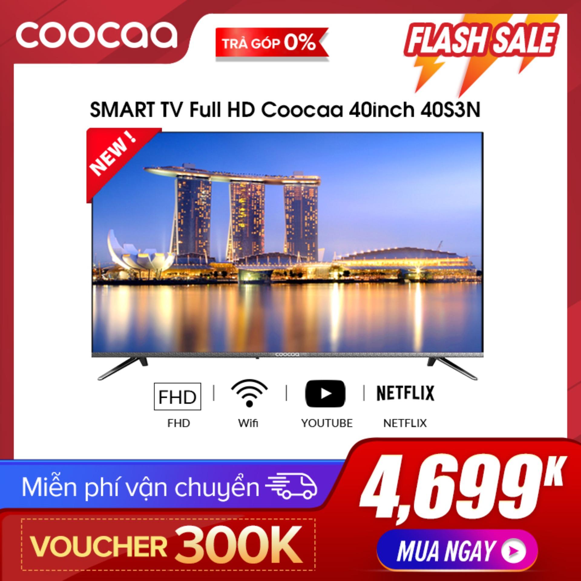 Bảng giá [Hàng mới về] SMART TV Full HD Coocaa 40 inch tivi - Tràn viền - Model 40S3N (Bạc) - 43 Chân viền kim loại tivi giá rẻ nhất Điện máy Pico