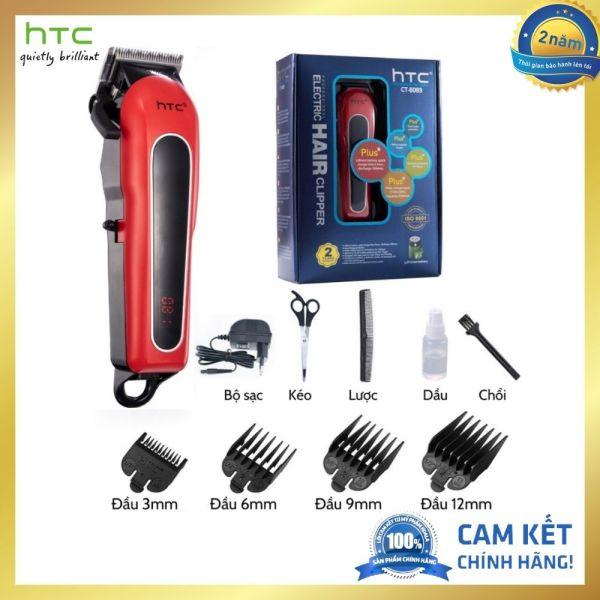 Tông đơ cắt tóc gia đình chuyên nghiệp HTC chính hãng, tăng đơ cắt tóc HTC tặng 4 đầu cữ, kéo, lược, chải vệ sinh, dầu máy. - Vins Mart giá rẻ