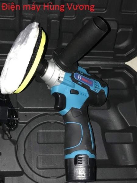 Máy đánh bóng xe ô tô, đồ  nhựa, gỗ Bosh MT5020  dùng pin 12 vôn, 6 cấp tốc độ, đĩa 120mm, Madein ThaiLand.