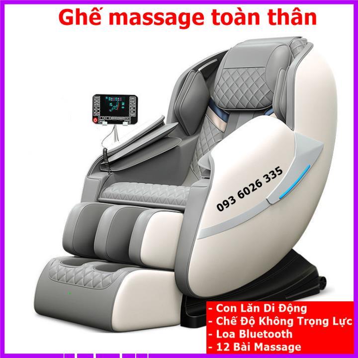 [Ghế massage toàn thân công nghệ Nhật Bản, con lăn di động, loa bluetooth, chế độ không lực