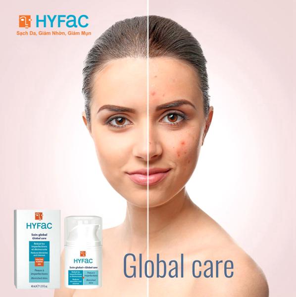 Kem bôi giảm mụn và ngăn ngừa mụn Hyfac Global Care Hộp 40ml - Nhập khẩu từ Pháp