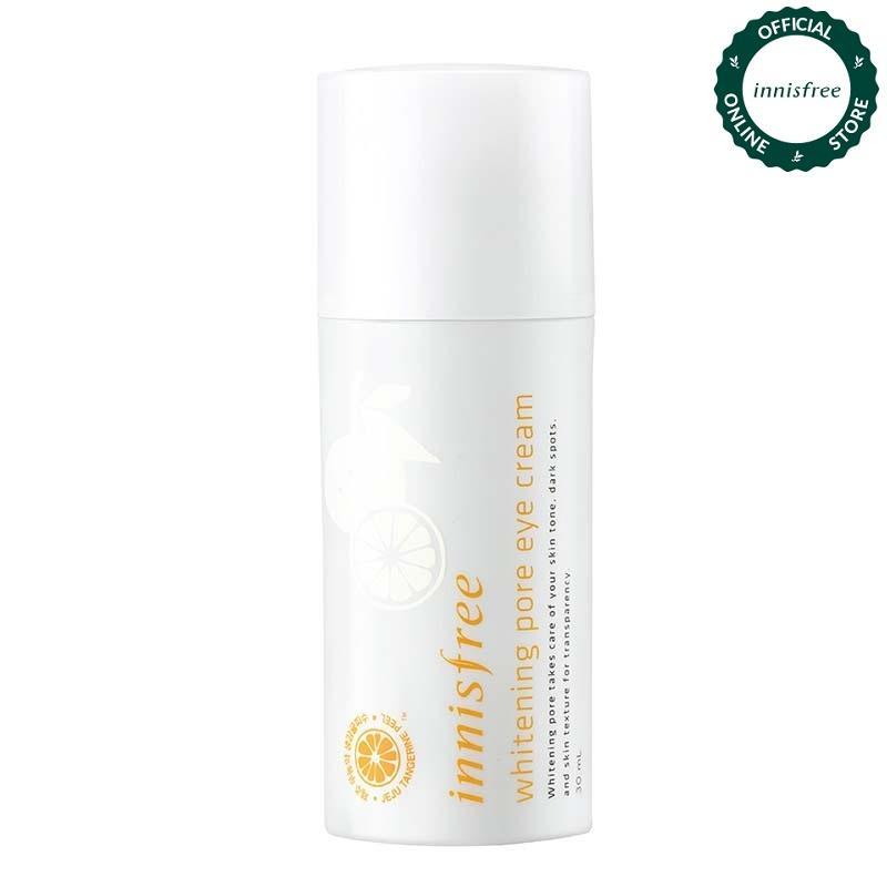 Kem dưỡng làm sáng da vùng mắt từ vỏ quýt tươi Jeju Innisfree Whitening Pore Eye Cream 30ml nhập khẩu