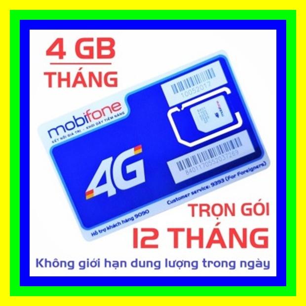 Giá Sim 4G Mobifone trọn gói 1 năm không nạp tiền MDT250A (4GB/Tháng) - Sim 4G Mobi - Shop Sim Giá Rẻ