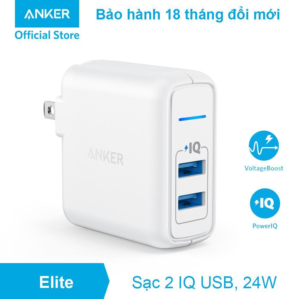 Sạc ANKER PowerPort Elite 2 cổng 24w - A2023